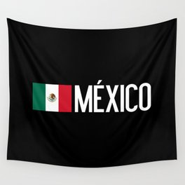 Mexican Flag & México Wall Tapestry