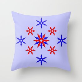 Shuriken Design version 3 Throw Pillow