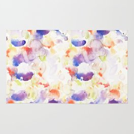 Abstract Washy Watercolour Splodges Rug