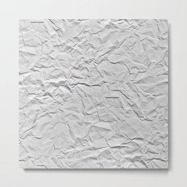 Crease paper Metal Print