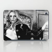 cara iPad Cases featuring cara delevingne by donotseemeart
