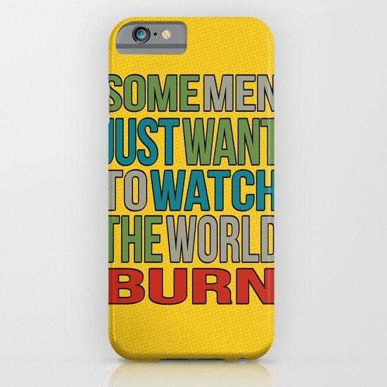 Watch the world burn. iPhone & iPod Case