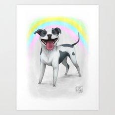 I Love Pitbulls Art Print