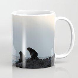 Peace, Rainbow, & Seals; Kaikoura New Zealand Coffee Mug