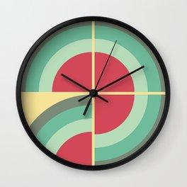 Mid-century modern pattern 2 Wall Clock