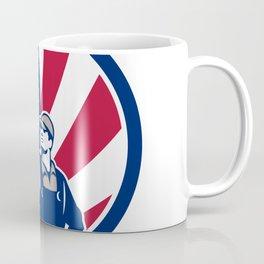 American Industrial Cleaner USA Flag Icon Coffee Mug