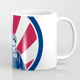 American Industrial Cleaner USA Flag Icon Coffee Mug