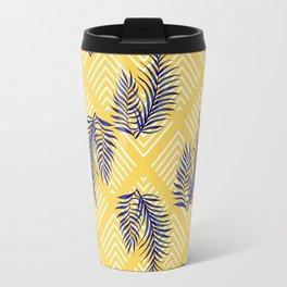 Geometries & Blue Palms #society6 #decor #buyart Travel Mug