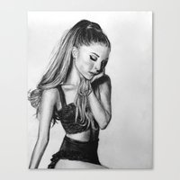 ariana grande Canvas Prints featuring ariana by Stella Joy