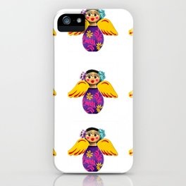Mexican Purple Angels iPhone Case