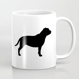 Black Staffordshire Bull Terrier Silhouette Coffee Mug