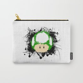 Abstract Paint Splatter 1up Mushroom Carry-All Pouch