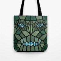 kaiju Tote Bags featuring Kaiju Voronoi by Enrique Valles