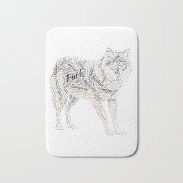 My Spirit Animal is A Wolf Bath Mat