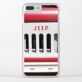 Jeep Van Grill, Old Jeep Van Grill Clear iPhone Case