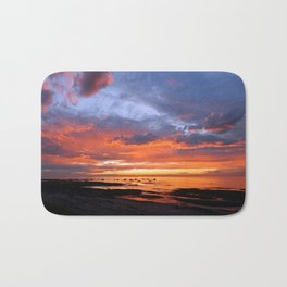 Stunning Seaside Sunset Bath Mat