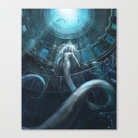 underwater Canvas Prints featuring Underwater by Julie Dillon