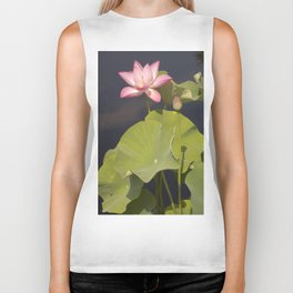 Pink Lotus by Teresa Thompson Biker Tank