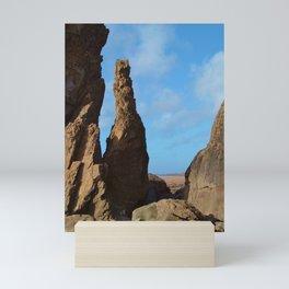 ROCK STACK SANDYMOUTH BEACH NORTH CORNWALL Mini Art Print