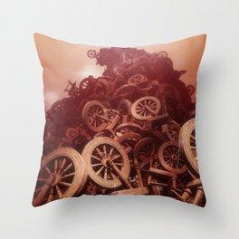Sleeping Beauty Spindle Bonfire Throw Pillow