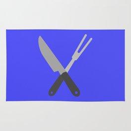 knife and fork Rug