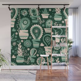 Paisley succulents Wall Mural