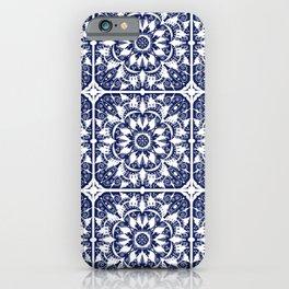 Navy Tile iPhone Case