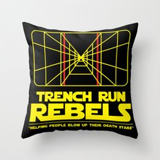 Trench Run Rebels Throw Pillow