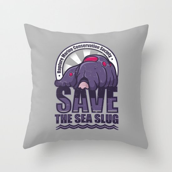 Save The Sea Slug Throw Pillow