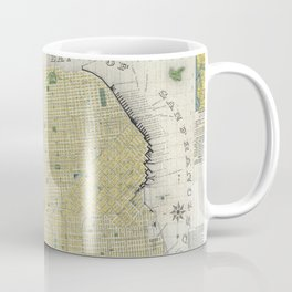 Vintage Map of San Francisco CA (1898) Coffee Mug