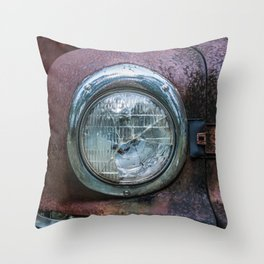 Low Beams Throw Pillow