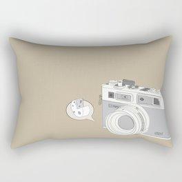 "Yashica Camera - ""Say Cheese"" - soft-brown Rectangular Pillow"