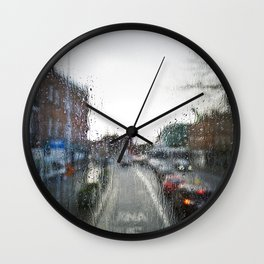 Rainy Days in Dublin Wall Clock