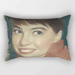 Leslie Caron, Movie Legend Rectangular Pillow