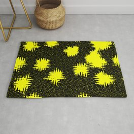 Yellow and black Abstraction Rug