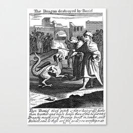 Daniel and the Dragon Canvas Print