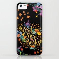 Read More Books - Black Floral Gold iPhone 5c Slim Case