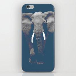 Dust Blue Elephant iPhone Skin