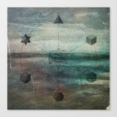 Platonic Solids Canvas Print