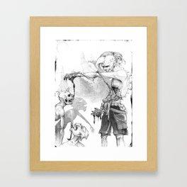 Punks Undead Framed Art Print