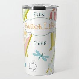 Ocean Way Pacific - Beach Life - tangerine Travel Mug