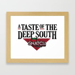 A Taste of the Deep South Framed Art Print
