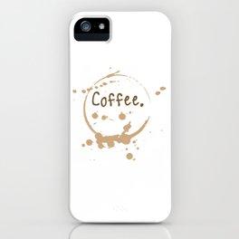 coffee cup splatter iPhone Case