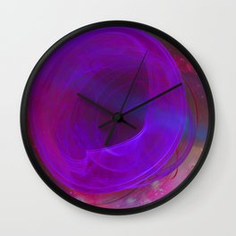 Welcome To The Wormhole Wall Clock