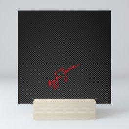 Ayrton Senna Carbon Fibre Signature Mini Art Print
