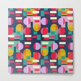 Multicolored geometric abundance Metal Print