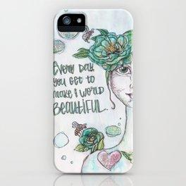 Make the World Beautiful iPhone Case