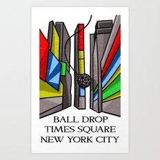 Ball Drop Times Square Art Print