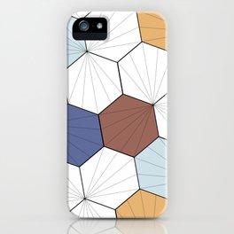 Mara (Wood & blue) iPhone Case