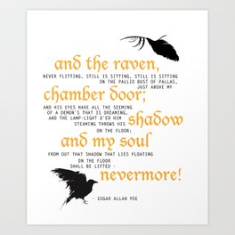 The Raven - Edgar Allan Poe Art Print